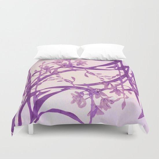 vice versa floral in purple Duvet Cover