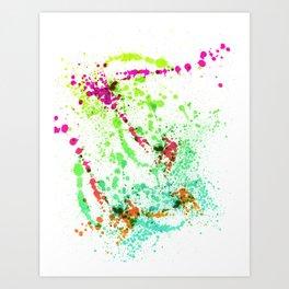 Screamin' Green - Abstract Splatter Style Art Print