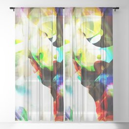 Color Bubbles Sheer Curtain