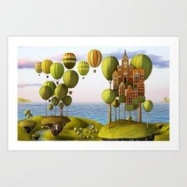 City in the Sky_Lanscape Format Art Print
