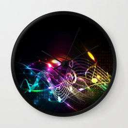 Music Notes in Color Wall Clock