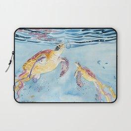 Take A Breath Sea Turtle Laptop Sleeve