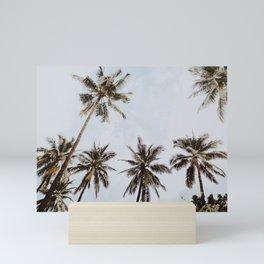 palm trees xiv / chiang mai, thailand Mini Art Print