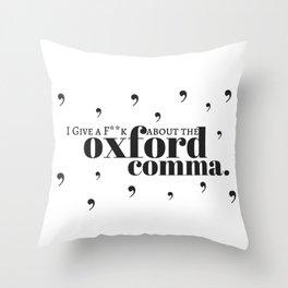 Grammarians Unite (Oxford Comma) Throw Pillow