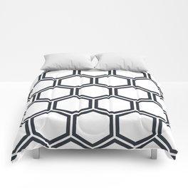 Hexagon White Comforters