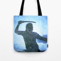 samurai Tote Bags featuring Samurai by Deprofundis