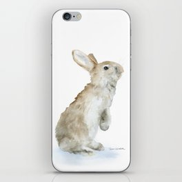 Bunny Rabbit Watercolor iPhone Skin