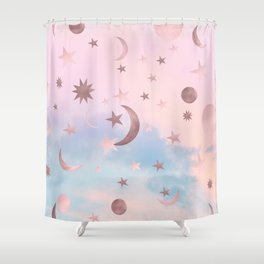 Pastel Starry Sky Moon Dream #2 #decor #art #society6 Shower Curtain