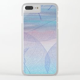 Painterly Pastel Leaves Abstract Clear iPhone Case
