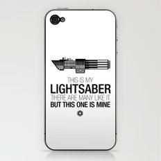This is my Lightsaber (Vader Version) iPhone & iPod Skin