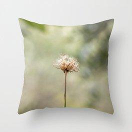 Deadly dandelion Throw Pillow