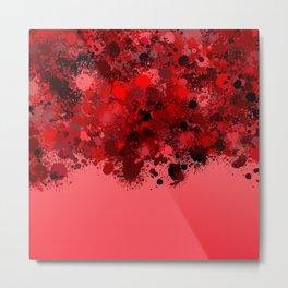 paint splatter on gradient pattern dr Metal Print