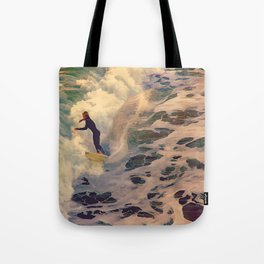 Riding the Sea Tote Bag