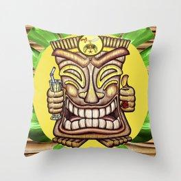 Shriner Happy Tiki #1 Throw Pillow