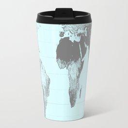 World Map : Gall Peters Aqua Travel Mug