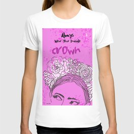 Always Wear Your Invisible Crown: Festival Flower Crown Edition T-shirt
