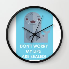 My lips are SEALED! Wall Clock