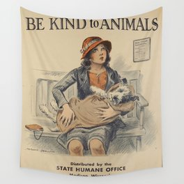 Be Kind To Animals 4 Wall Tapestry