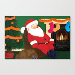 Sleeping Santa Canvas Print