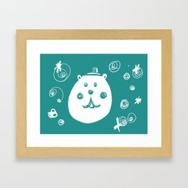 Happy Bear Framed Art Print