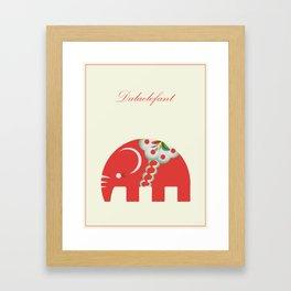 Swedish Elephant Framed Art Print