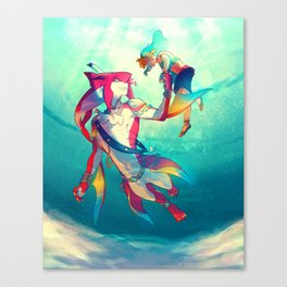 The Hero & the Prince Canvas Print