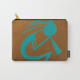Teal Kokopelli Carry-All Pouch