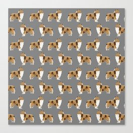 Rough Collie pet portrait custom dog breed gifts for collie owner by pet friendly Canvas Print
