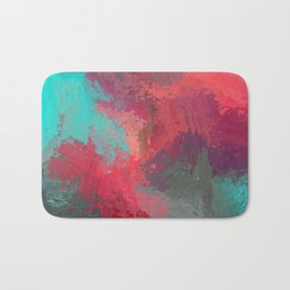 Passionate Firestorm Abstract Painting Bath Mat