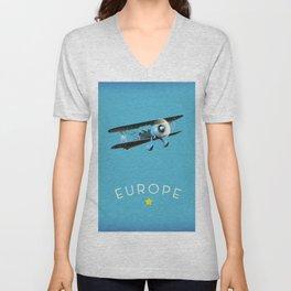 Europe Unisex V-Neck