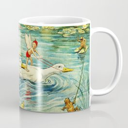 """""""Duck Racing in the Pond"""" by Margaret Tarrant Coffee Mug"""