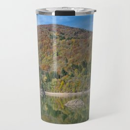 Autumn lake view in France Travel Mug