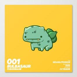 001 Bulbasaur Canvas Print