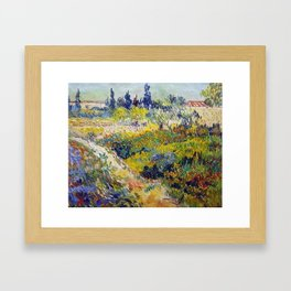 Vincent Van Gogh Flowering Garden Framed Art Print