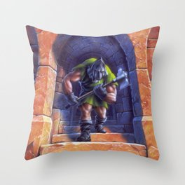 A Night in Terror Tower Throw Pillow