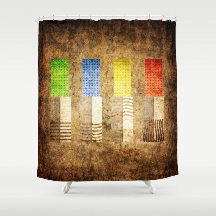 Elemental Stones Shower Curtain