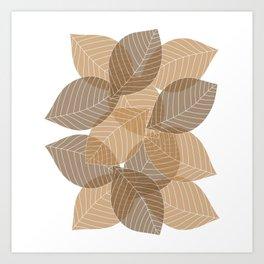 Fall Brown Leaves Art Print