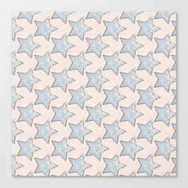 pastel star pattern Canvas Print