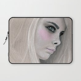 Cara Fashion Illustration Portrait Laptop Sleeve