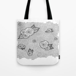 Dotted Floral Tote Bag