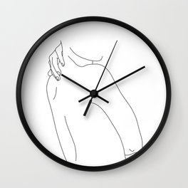 Hand on back line drawing - Isla Wall Clock