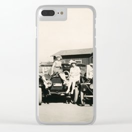 """""""Rough-riding"""" Bathing Beauties at Seal Beach, CA, 1917 Clear iPhone Case"""