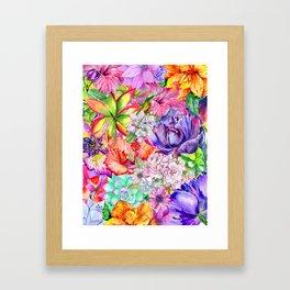 Queen of flowers Framed Art Print