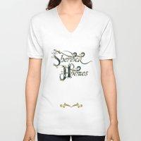 sherlock holmes V-neck T-shirts featuring Sherlock Holmes by Ketina