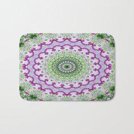 Purple Wildflower Kaleidoscope Art 4 Bath Mat