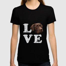 I Love My Chocolate Lab Labrador Retriever Dog Gift T-shirt
