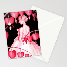 Bleeding Hearts Flowers Stationery Cards