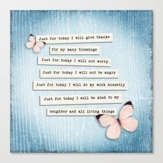 Reiki Principles No.1 Canvas Print