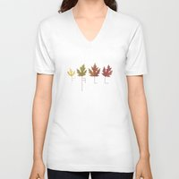 fall V-neck T-shirts featuring Fall by Janko Illustration
