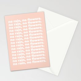 No Rain No Flowers Quote, Life Quotes, Large Printable Photography, Peach Wall Art Print Decor Stationery Cards